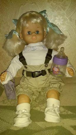 Резиновая мягконабивная интерактивная шведская кукла Skrallan 51см