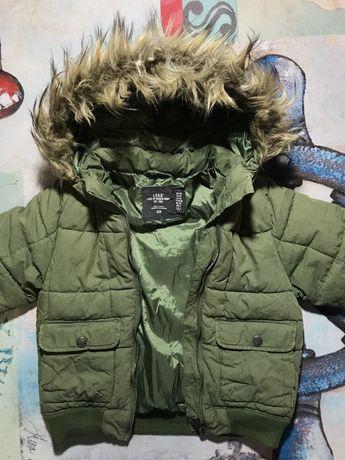 куртка зимняя HM h&m непромокаемая дутик дутая деми