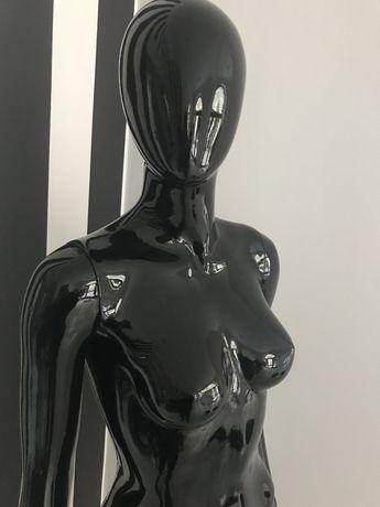 Manekin Damski abstrakcyjny czarny połysk glossy