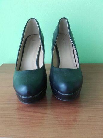 buty czarne platformy