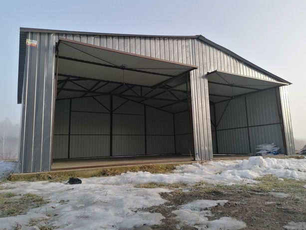 Garaż blaszany dwustanowiskowy 7x6 RAL 7016 Dowolny wymiar 6x5 6x6 7x5
