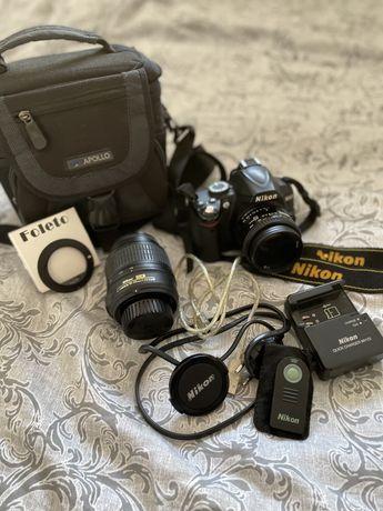 Nikon D3000- DUŻY ZESTAW! (2 obiektywy, w tym Nikkor 50mm 1.8)