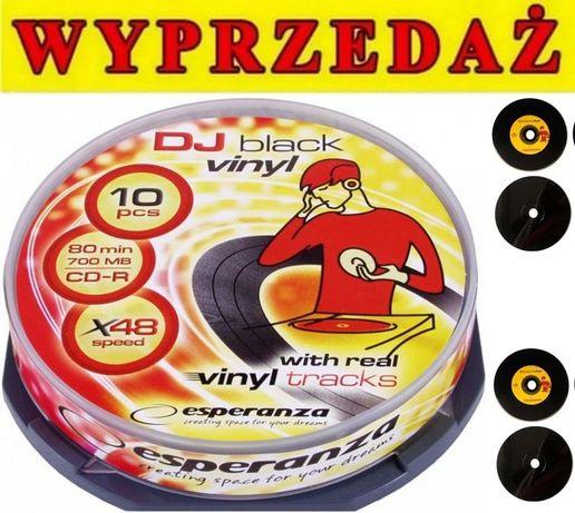 ## NOWE płyty DVD Esperanza DJ Vinyl BLACK 10szt OKAZJA ##