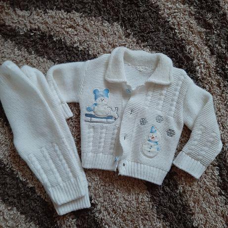 Вязаный костюм для мальчика или девочки