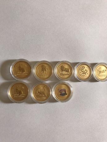 Золотая монета 25 долларов Австралия 1999 зайца