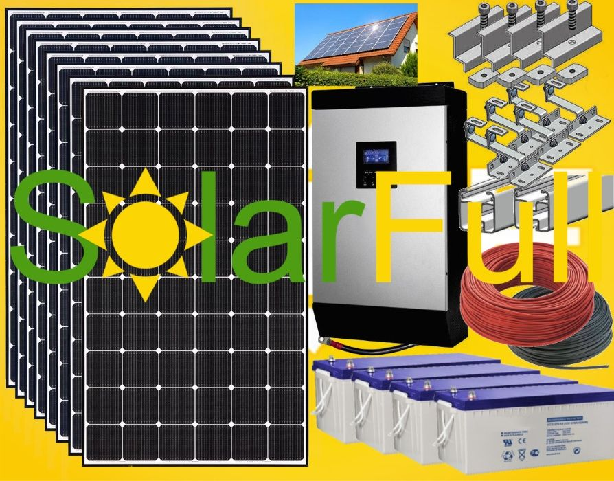 Kit – Novo painel solar 410w - Monocristalino 5 Kwh 10kw Prod. 4100 Pombal - imagem 1