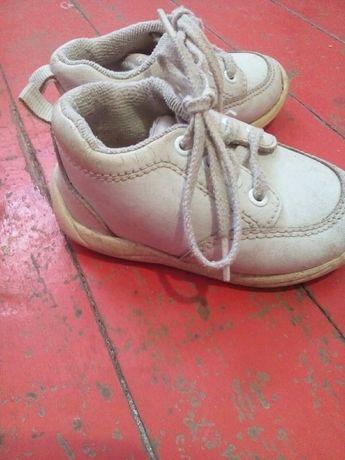 Кожаные детские туфельки