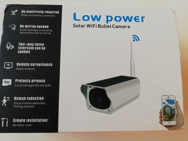 Kamery kamera Wifi zewnętrzna solarna na baterie karta sd