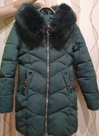 Зимняя куртка - пальто на девочку подростка