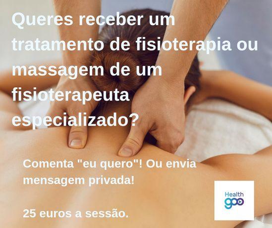 Sessão de Fisioterapia ou Massagem de Relaxamento/ Desportiva