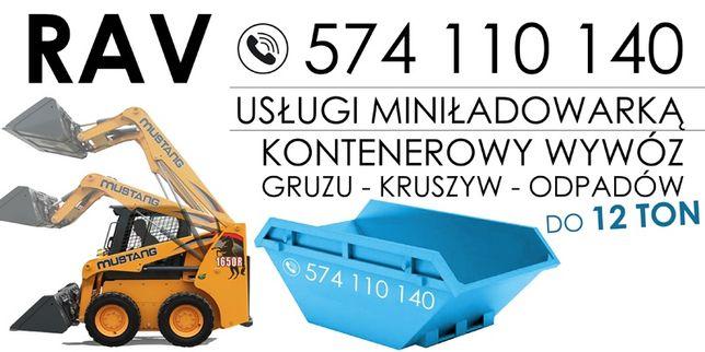 Kontener Kontenerowy wywóz gruzu, śmieci,odpadów budowlanych.