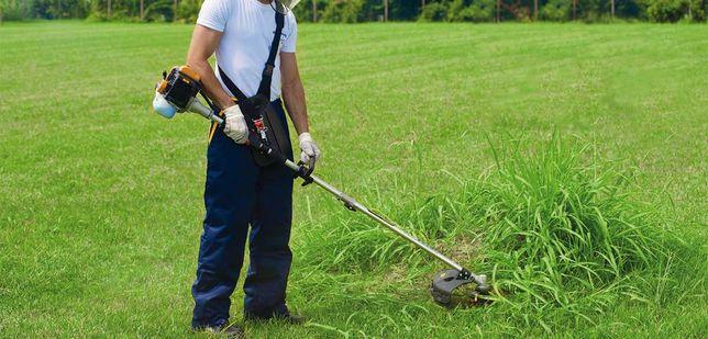 Покос травы, стрижка газона, уборка бурьяна. Уход за участком