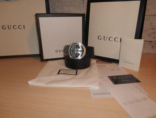 Gucci Męski damski pasek firmowy, skóra naturalna, Włochy 132