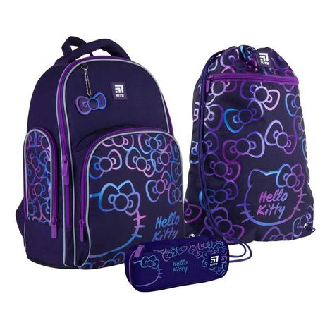 Школьный набор рюкзак + пенал + сумка Kite Hello Kitty HK21-706M