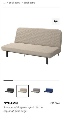 Sofá cama casal ikea