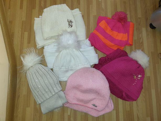 Зимние комплекты шапка+снуд/шарф на 4-8 лет