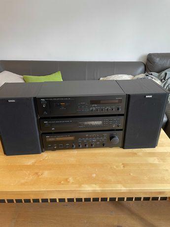 Wieża stereo vintage Yamaha RX 450, KX-330 RS, CDX 550 E RS, NS-G30