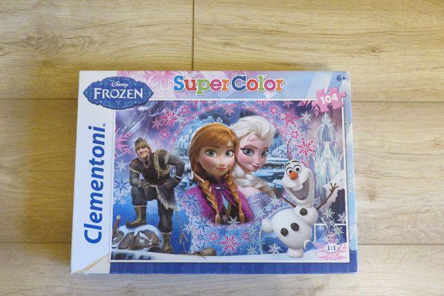 Puzzle Super Color, Kraina Lodu, 104 elementy