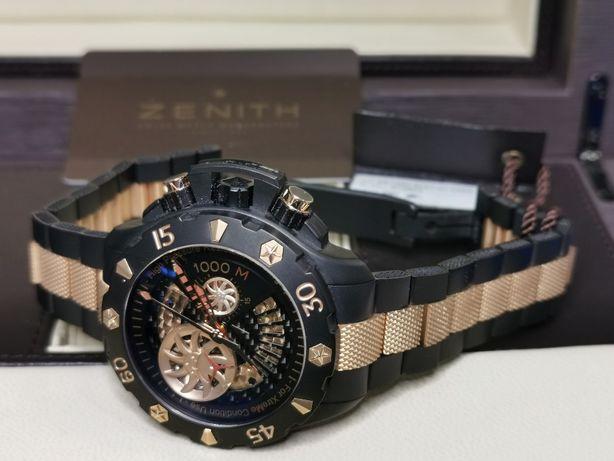 Zenith Xtreme cronometro el primero 1000m. titanio oro