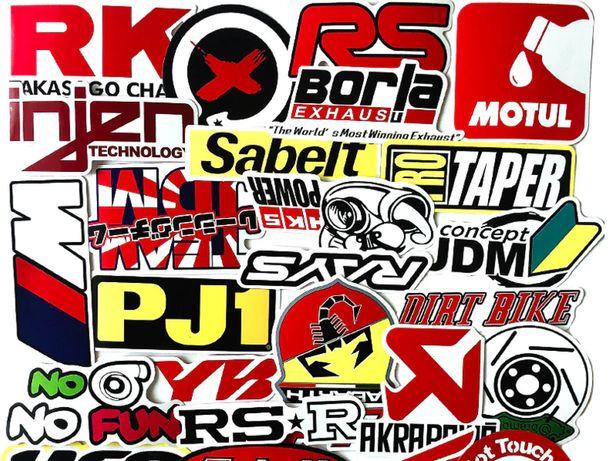 Autocolantes adesivo 50 pçs carro de corrida adesivos motocross marcas