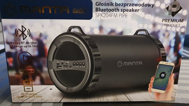 Głośnik bluetooth Manta SPK204FM