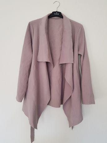 Płaszcz kopertowy flauszowy