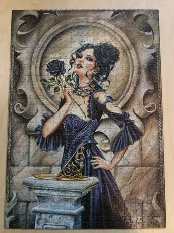 Puzzle Clementoni 1000 Gothic Collection Black Rose [91690]