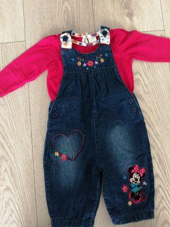 Nowy komplet Minnie, ogrodniczki i bluzeczka