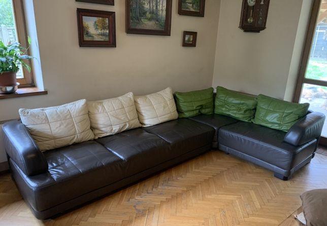 Narożnik Etap sofa skóra funkcja spania