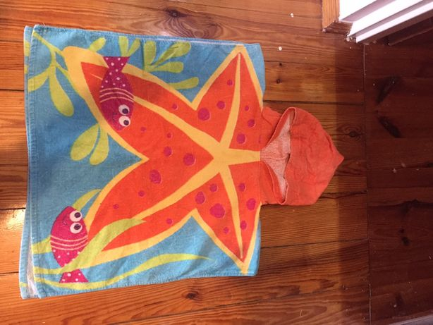 Ręcznik plażowy dziecięcy poncho do r. 134