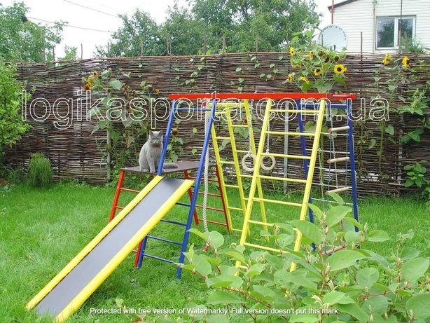 Площадка. Детский спортивный комплекс для двора и дома, качели, горка
