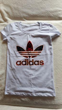 Bluzka adidas biała