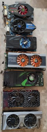 Лот видеокарт HD5770,HD6750,HD4870,GTX260,8800GTX,N560GTX