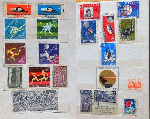 Znaczki klaser ze znaczkami - polskie