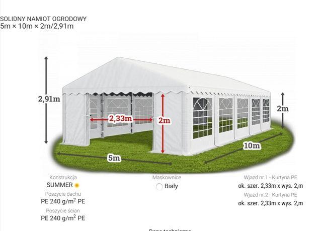 Namiot imprezowy 5m/10m NOWY wynajem