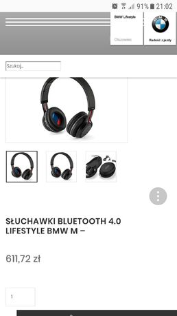 Słuchawki bezprzewodowe Bluetooth serwis BMW oe