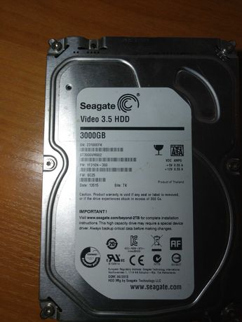 Hdd Seagete 3Tb st3000vm002 кеш 64mb