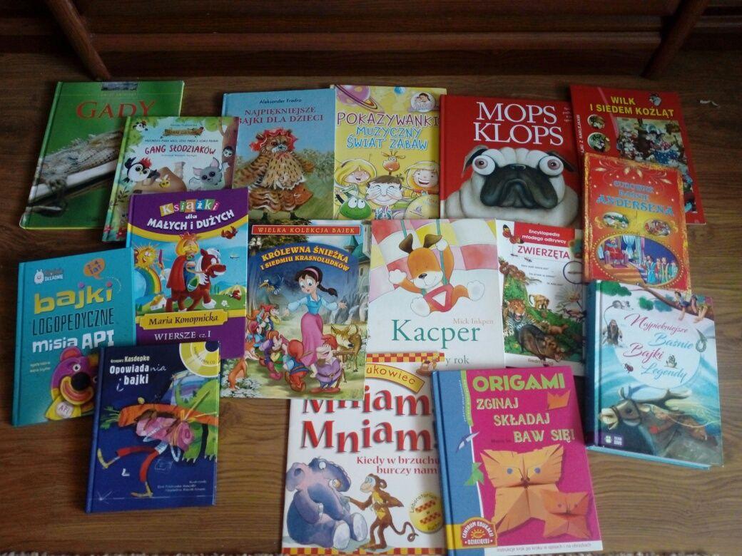 Mega zestaw książeczki dla dzieci zadbane bajki twarda oprawa książki