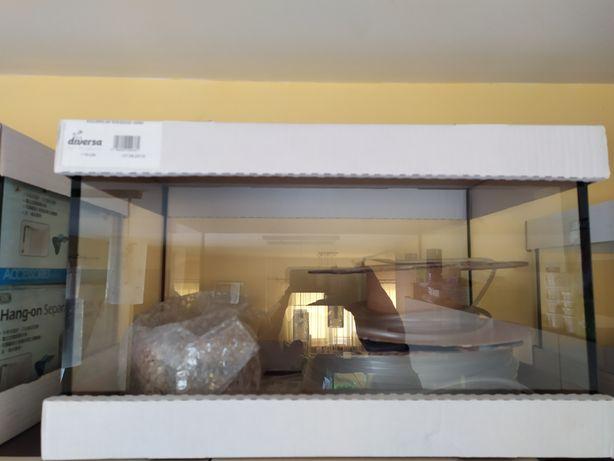 Akwarium szkło 45L 50x30x30cm Diversa NOWE