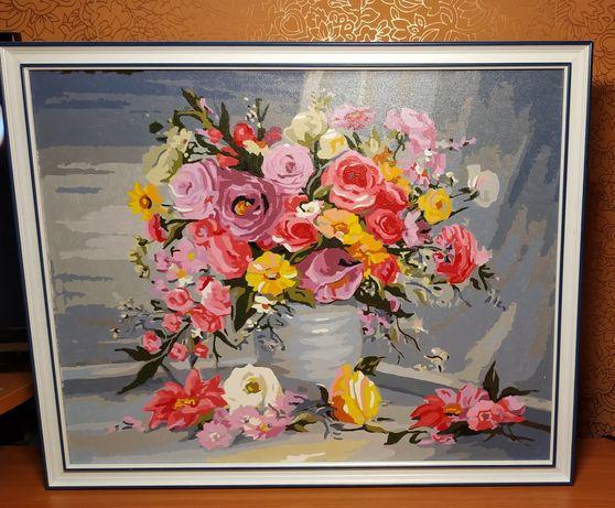 """""""Букет цветов """", картина в рамке"""