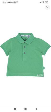 Поло Chicco, зелёного цвета, б/у, размер на 1 год