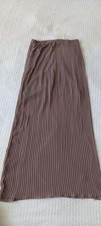 Spódnica plisowana nude 38 M