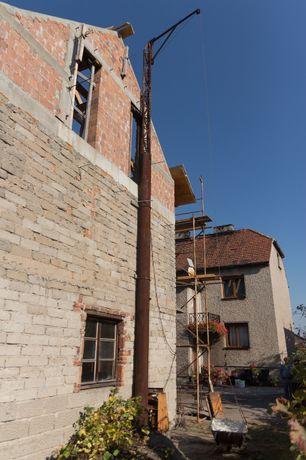 Dźwig budowlany dekarski podnośnik wciągarka winda zwyżka 11m falownik