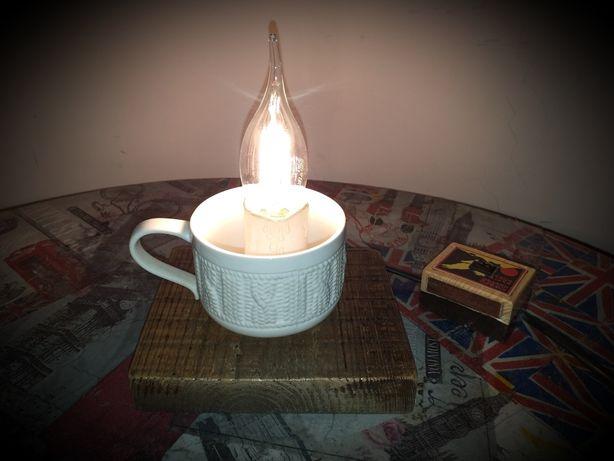 Настольная лампа, светильник, ночник, loft