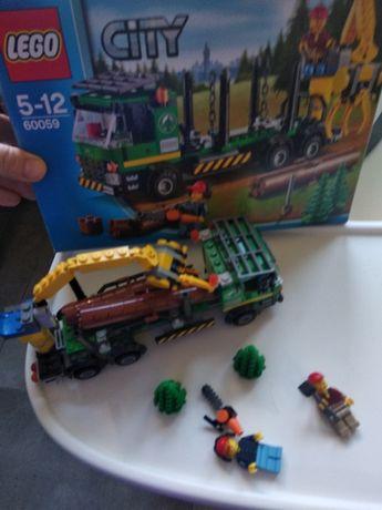 LEGO City City Ciężarówka do transportu drewna 60059