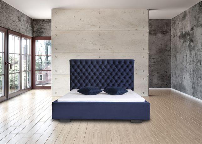 Łóżko MIA CHESTER ze stelażem metal. 140 lub 160 x200