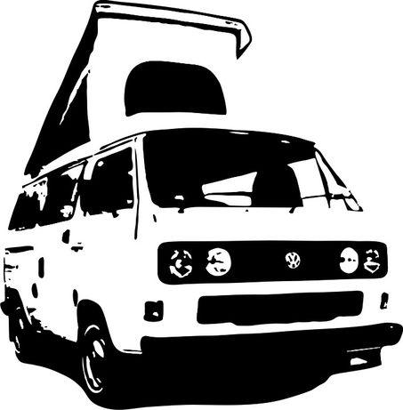 N612-naklejka Volkswagen T3 kamper Westfalia