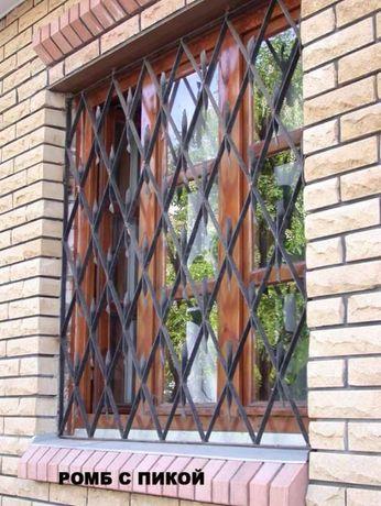 Решетки на окна. от 480грн.м.кв. Качественная покраска. Установка.