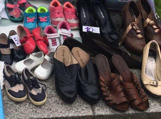 Sapatos mulher e menina