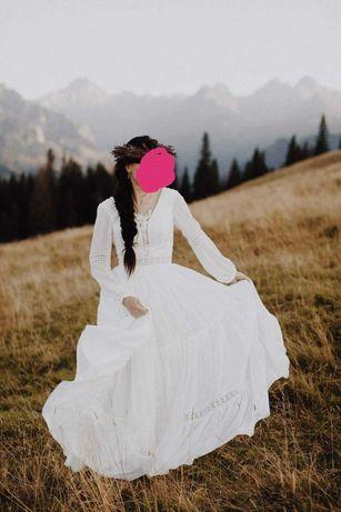 suknia ślubna rustykalna/boho